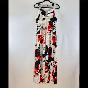 Calvin Klein Maxi Floral Dress.